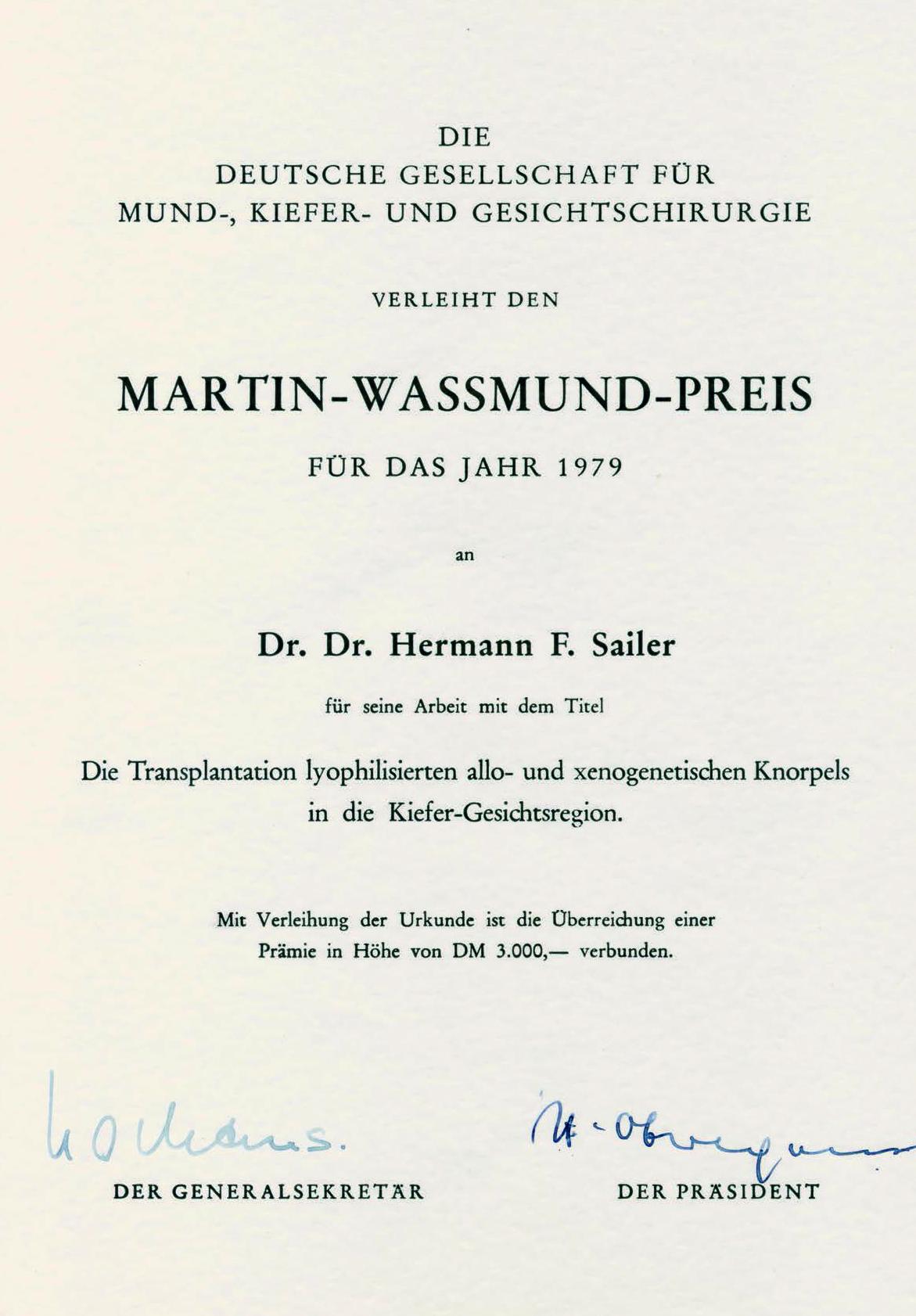 Sailerklinik: Awards